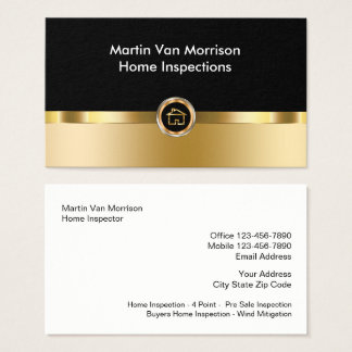 Classy Home Inspection Design Business Card
