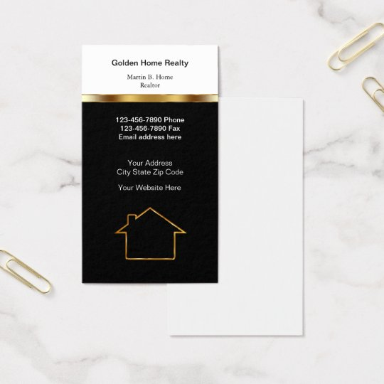 Classy Home Realtor Business Card