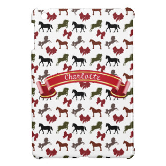 classy Horses  and Bows Pattern Custom iPad Mini Cases
