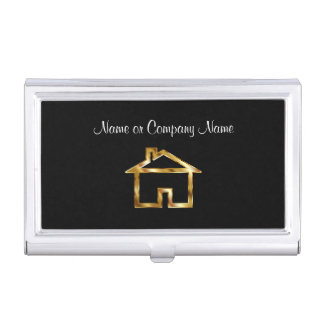 Classy House Symbol Business Card Holder