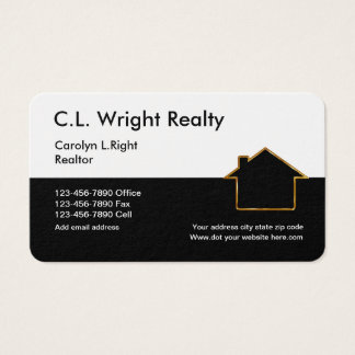 Classy House Symbol Real Estate Business Card