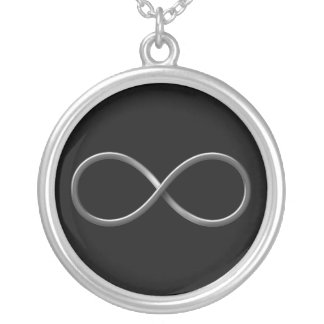 Classy Infinity Symbol | Science Rules Silver Plated Necklace