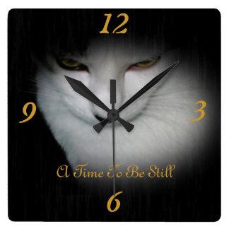 Classy Kitty Wall Clock !