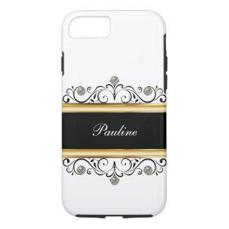 Classy Ladies Monogram Bling Style iPhone 8/7 Case