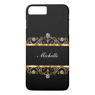 Classy Ladies Monogram Bling Style iPhone 8 Plus/7 Plus Case