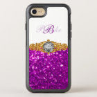 Classy Ladies Or Girls Bling Monogram Style OtterBox Symmetry iPhone 8/7 Case