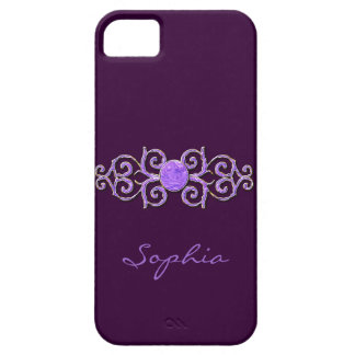 Classy Lavender Crystal Look I Phone 5 Case iPhone 5 Cover