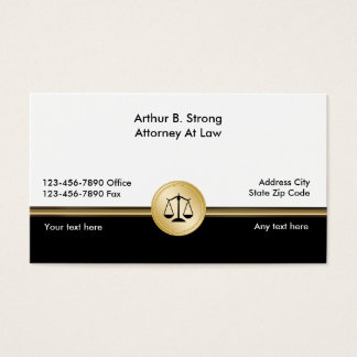 Classy Law Firm Business Cards
