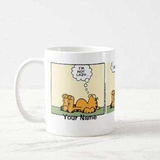 """Classy Lazy"" Garfield Comic Strip Classic White Coffee Mug"