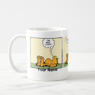 """Classy Lazy"" Garfield Comic Strip Coffee Mug"