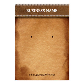Classy Leather & Paper Earring Display Cards Pack Of Chubby Business Cards