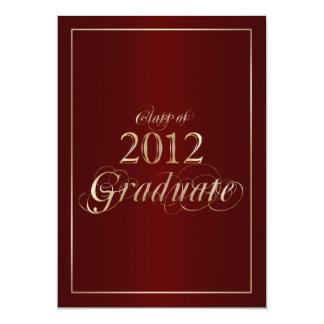 Classy Maroon and Gold 2012 Graduate Invitation