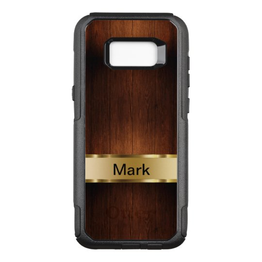 Classy Men's Wood Grain Look OtterBox Commuter Samsung Galaxy S8+ Case