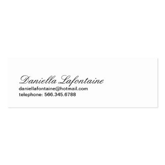 Classy Mini-Calling Cards Pack Of Skinny Business Cards