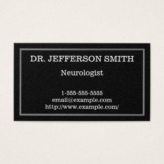 Classy & Minimal Neurologist Business Card