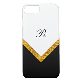 Classy Modern Monogram Style iPhone 8/7 Case