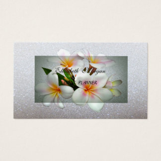 Classy Modern  Romantic Glittery, Floral Business Card