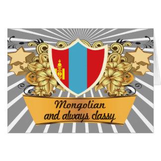 Classy Mongolian Card