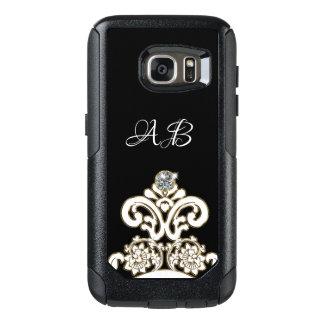 Classy Monogram Bling OtterBox Samsung Galaxy S7 Case