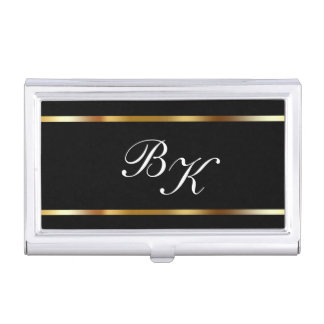 Classy Monogram Business Card Case