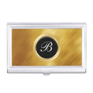 Classy Monogram Business Card Holder