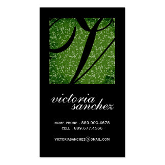 Classy Monogram Calling Cards Pack Of Standard Business Cards