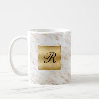 Classy Monogram Gold Style Coffee Mug