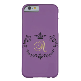 "Classy Monogram Letter ""A"" Barely There iPhone 6 Case"