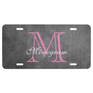 Classy Monogram License Plate