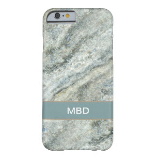 Classy Monogram Marble Stone Look Barely There iPhone 6 Case