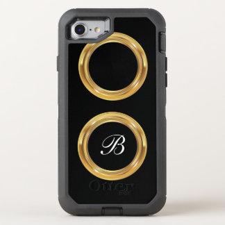 Classy Monogram OtterBox Defender iPhone 8/7 Case