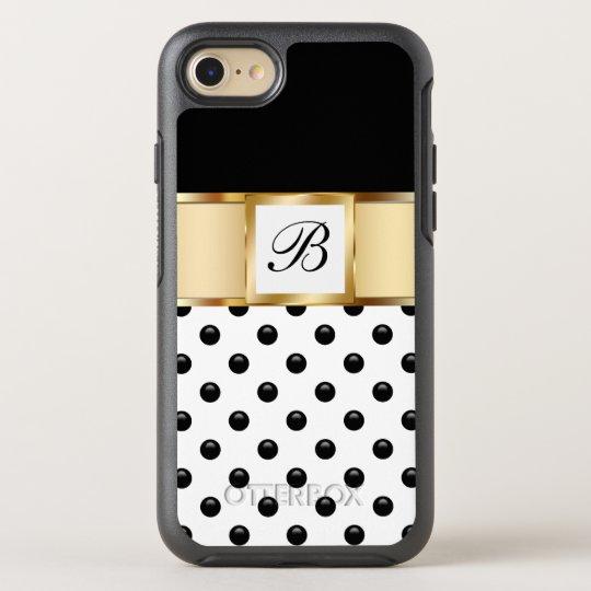 Classy Monogram Style OtterBox Symmetry iPhone 7 Case
