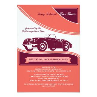 "Classy Motorcar Car Show Announcement/Invitation 5"" X 7"" Invitation Card"