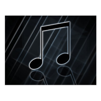 Classy Musical Note Postcard