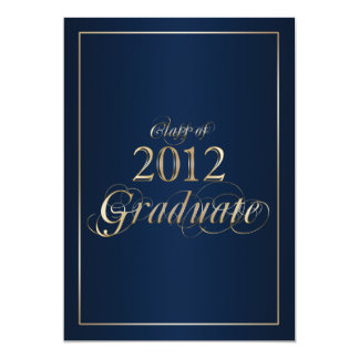 Classy Navy and Gold 2012 Graduate Invitation