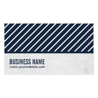 Classy Navy Blue Striped Nutrition Business Card