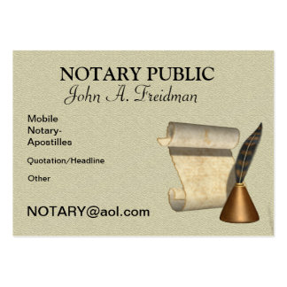 CLASSY NOTARY PUBLIC Business Card