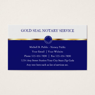Classy Notary Public Business Cards