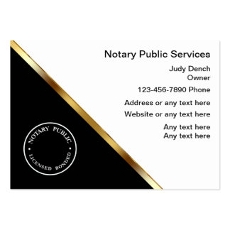 Classy Notary Service Business Cards