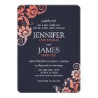 Classy Ombre Coral and Blue Wedding Invitations