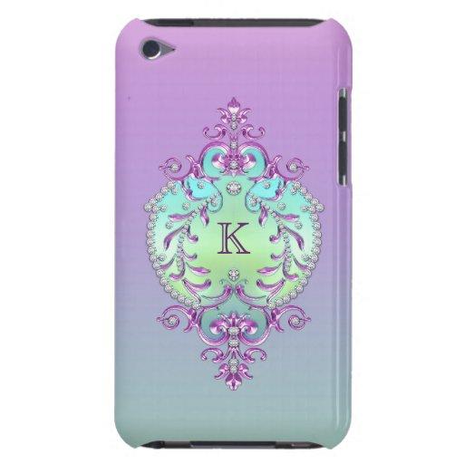 Classy, Ornate Diamonds Monogram iPod Touch Cover