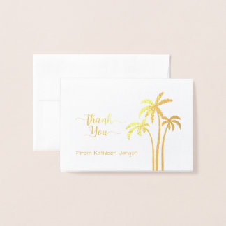 Classy Palm Tree Thank You Foil Card