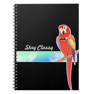 Classy Parrot Notebooks