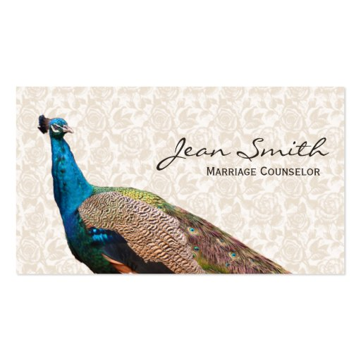 Classy Peacock Marriage Counseling Business Card