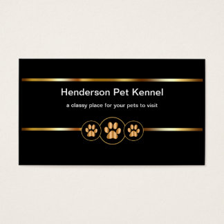 Classy Pet Kennel Business Card