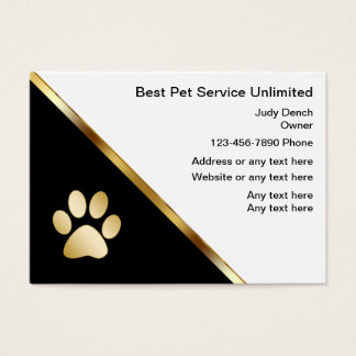 Classy Pet Service Business Cards