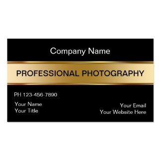 Classy Photographer Business Cards
