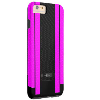 Classy Pink Black Flowing Banners Tough iPhone 6 Plus Case