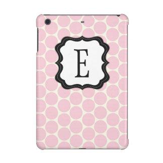 Classy Pink Dots Monogram iPad Mini Retina Case