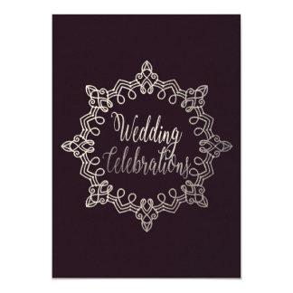 Classy Plum Wedding Card